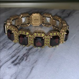 JCrew Garnet and Green Colored Bracelet